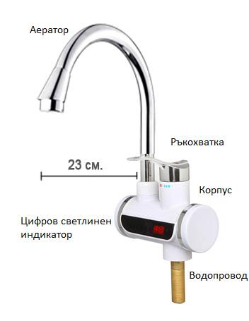 дигитален нагревател за вода Sapir SP 7100 IE с вертикален монтаж