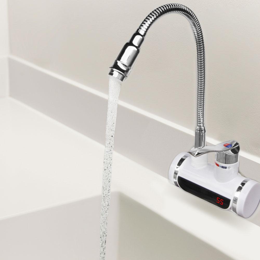дигитален нагревател за вода SAPIR с хоризонтален монтаж и подвижен чучур