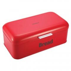 Кутия за хляб Klausberg KB 7092, 42 х 24 х 16.5 см, Екологично чистa, Емайл, Червен