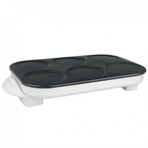Уред за палачинки Elite CRM-6, 1500W, 6х11.5 см, 240 C, Незалепващо покритие, Бял в Гофретници и уреди за десерти - Elite | Alleop