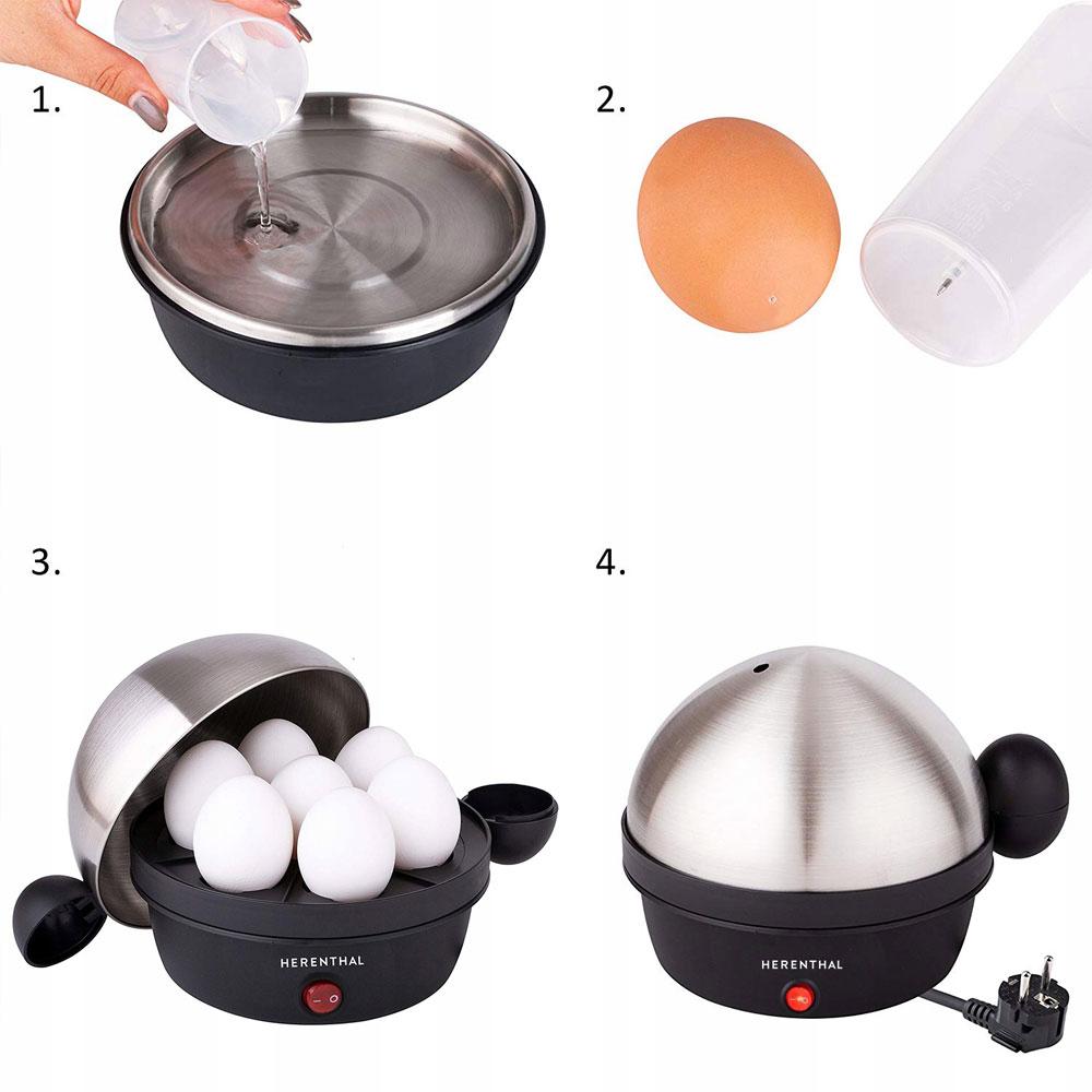 Как се използва яйцеварка Herenthal HT-EEK7.5.