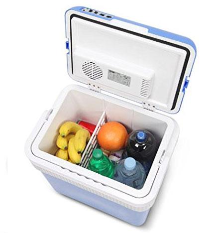 Хладилна чанта, в която може да сложиш твоите продукти. С функция за затопляне и охлаждане.