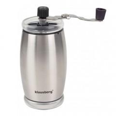 Механична мелничка за кафе Klausberg KB 7249, Регулиране на големина, Инокс