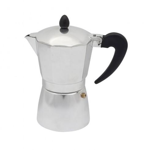 Кубинска кафеварка SAPIR SP 1173 I6, 6 чаши, Сребриста в Кафеварки за котлон - SAPIR | Alleop