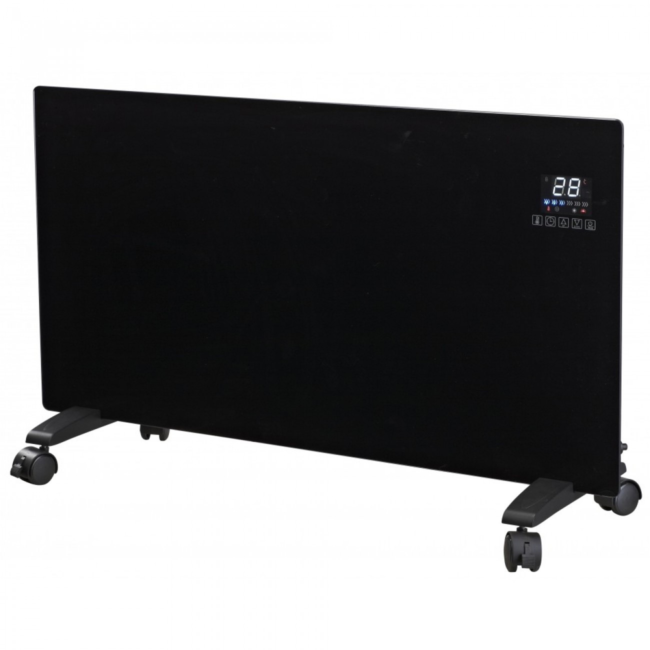 Конвектор за стена или под ZEPHYR ZP 1974 C, 2000W, 2 степени, Таймер 24 часа, Дистанционно, 5 до 35°C, LCD, Черен в Конвекторни печки - ZEPHYR | Alleop