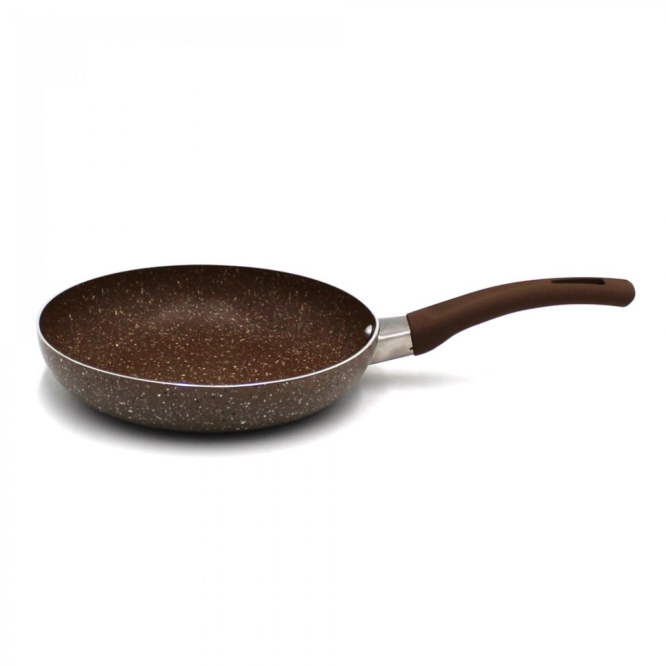 Тиган с мраморно покритие OEM 2575-9, 16 см, Кафяв в Тигани - OEM | Alleop