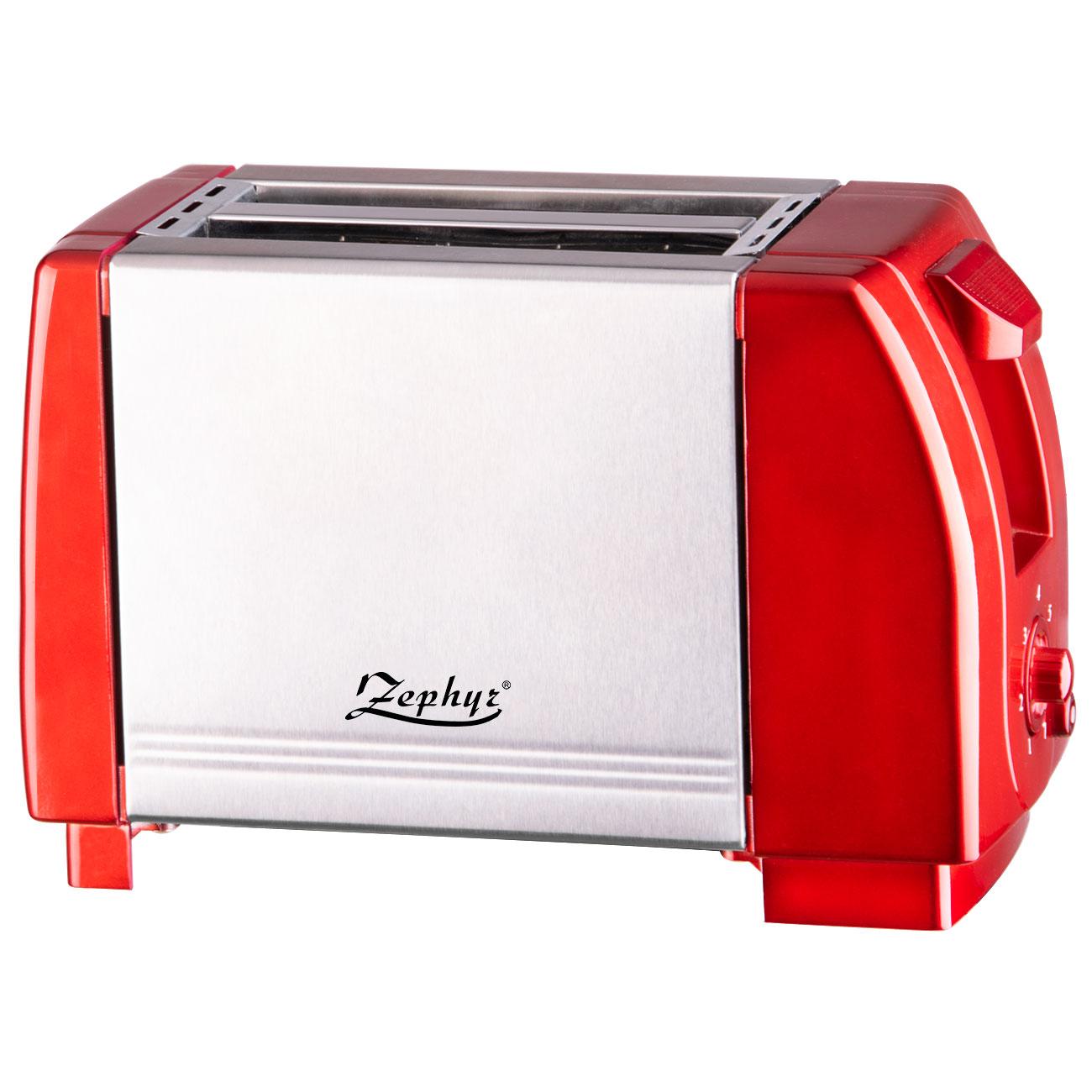 Тостер за хляб ZEPHYR ZP 1440 JR, 750W, 2 филийки, Червен в Тостери за хляб - ZEPHYR   Alleop