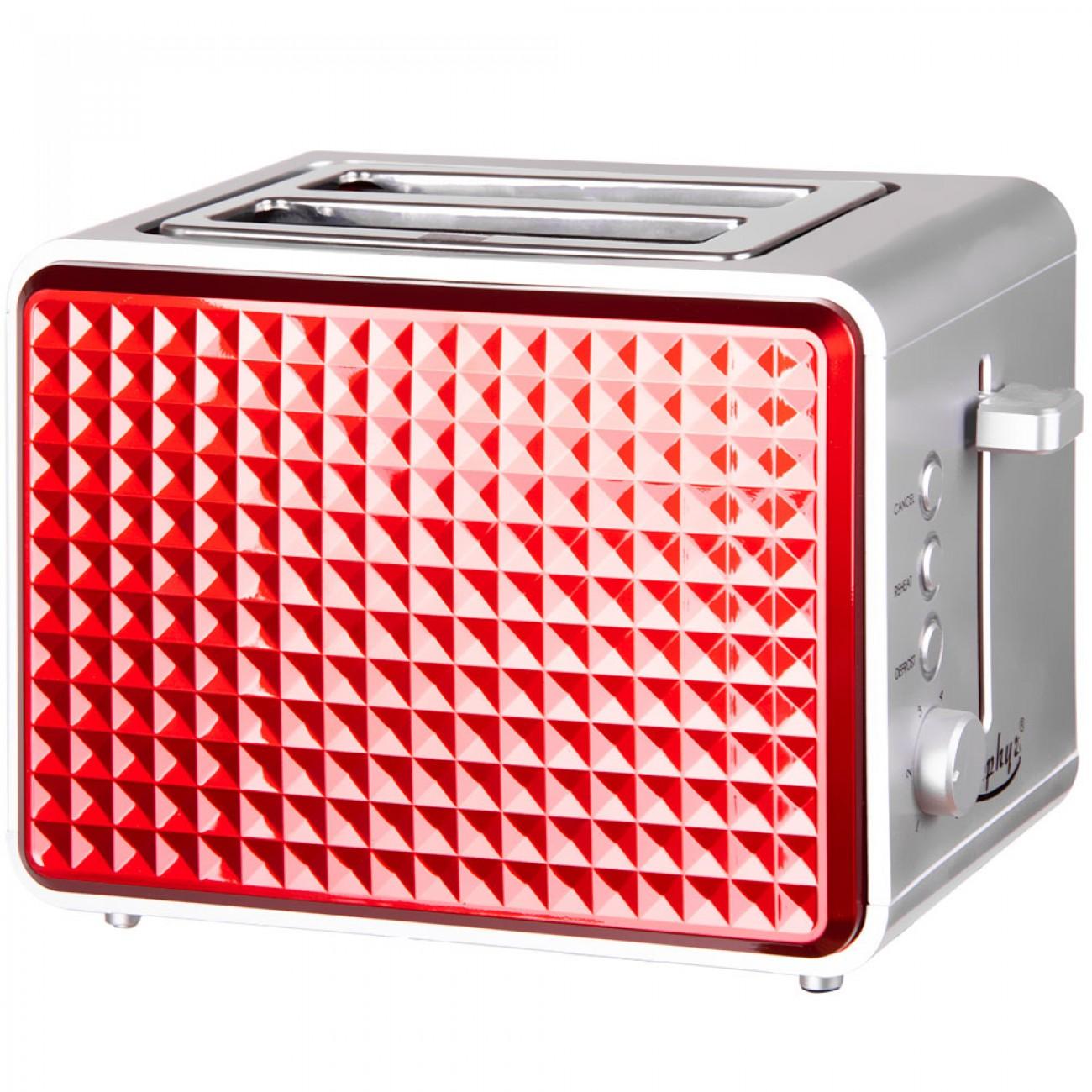 Тостер за хляб ZEPHYR ZP 1440 V, 750W, 2 филийки, Червен в Тостери за хляб - ZEPHYR | Alleop