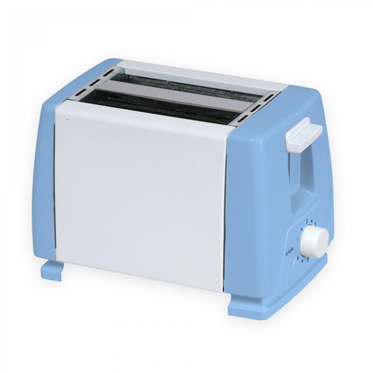 Тостер за хляб SAPIR SP 1440 B, 750W, За 2 филийки, 6 степени на запичане, Бял/син в Тостери за хляб - SAPIR   Alleop