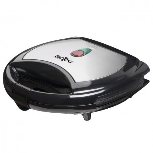 Тостер за сандвичи - вафла SAPIR SP 1442 AK, 750W, Незалепващи плочи, Черен/инокс в Сандвич тостери - SAPIR | Alleop