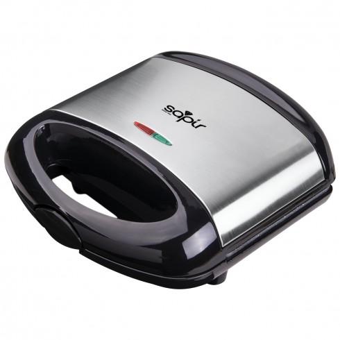 Тостер за сандвичи с мраморно покритие SAPIR SP 1442 ALM, 750 W, Грил плочи, Черен/инокс в Сандвич тостери - SAPIR | Alleop