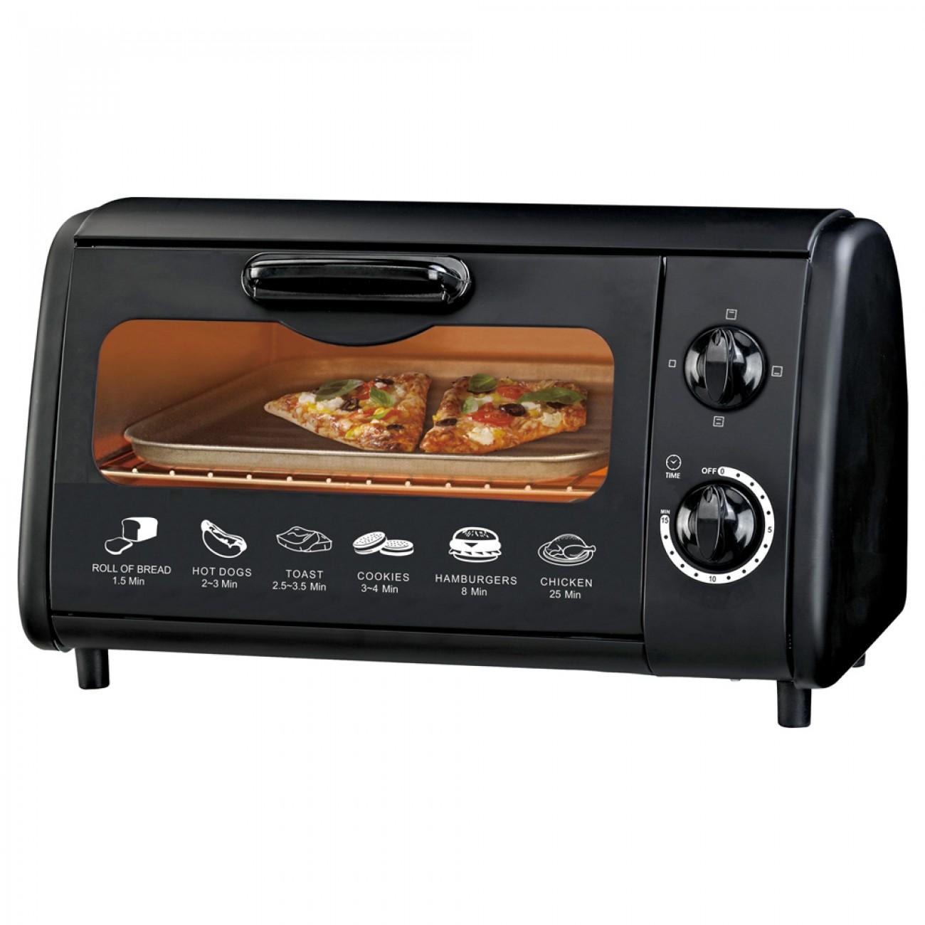Тостер за сандвичи - фурна SAPIR SP 1441 P, 600W, 9 литра, Таймер, Тавичка, Черен в Електрически фурни - SAPIR | Alleop
