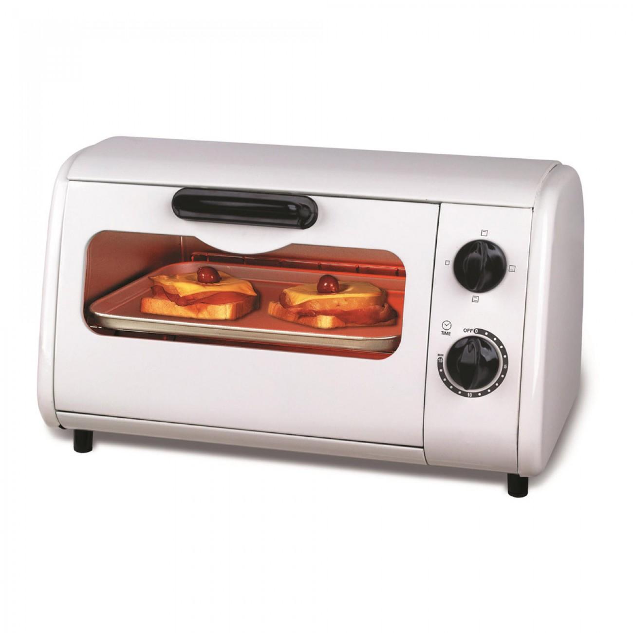 Тостер за сандвичи - фурна SAPIR SP 1441 P, 600W, 9 литра, Таймер, Тавичка, Бял в Електрически фурни - SAPIR | Alleop