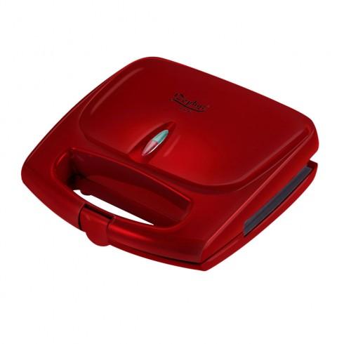 Тостер за сандвичи  ZEPHYR ZP 1442 AD, 700W, Грил плочи, Червен в Сандвич тостери - ZEPHYR | Alleop