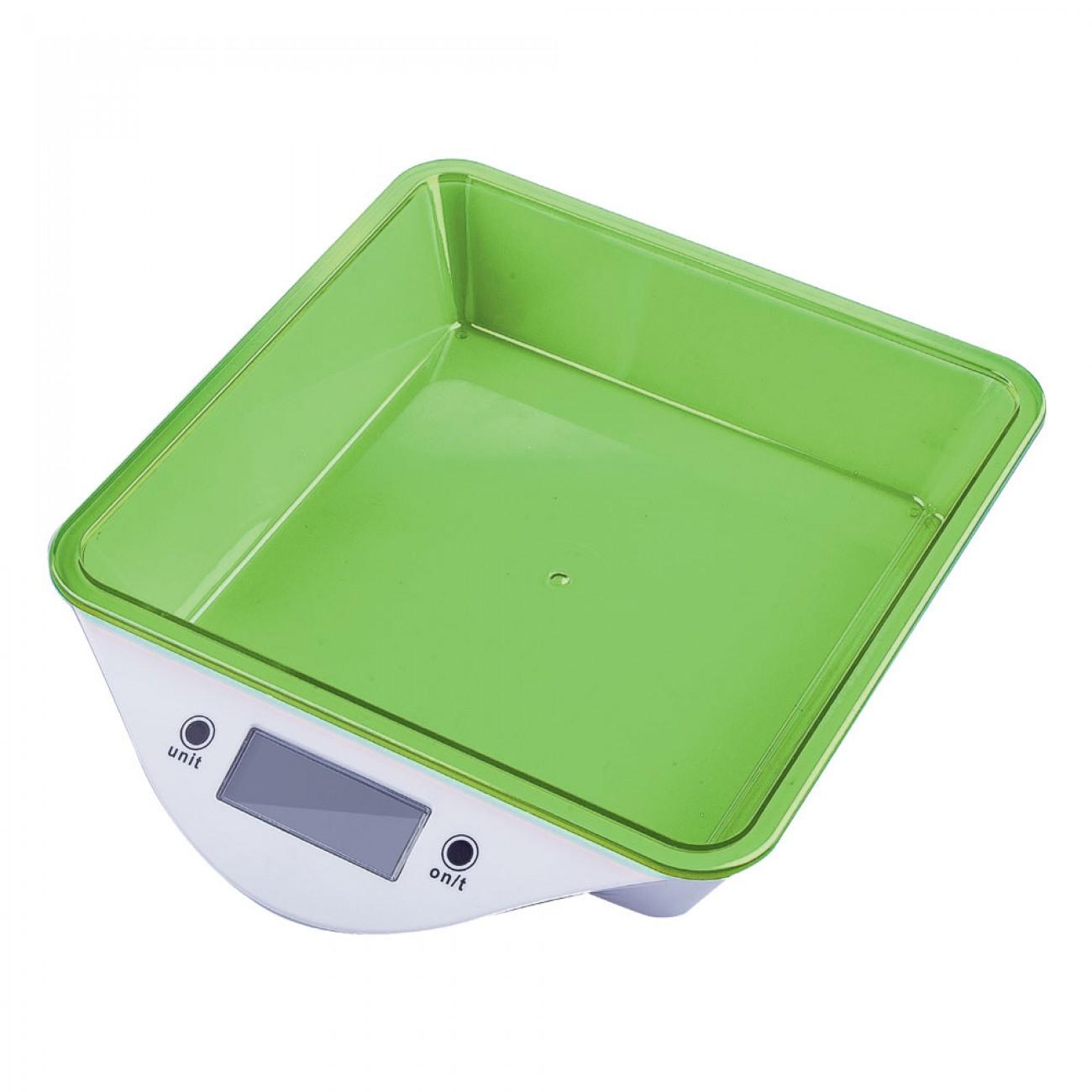 Кухненска дигитална везна ZEPHYR ZP 1651 LS, 5 кг, LCD екран, Включена батерия, Зелена в Кухненски везни - ZEPHYR | Alleop