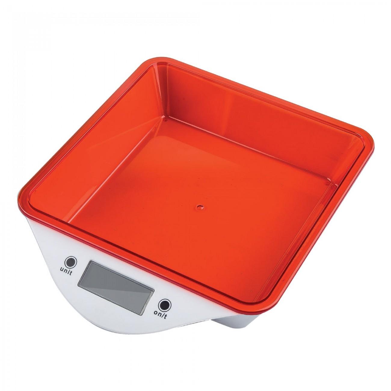 Кухненска дигитална везна ZEPHYR ZP 1651 LS, 5 кг, LCD екран, Включена батерия, Червена в Кухненски везни - ZEPHYR | Alleop