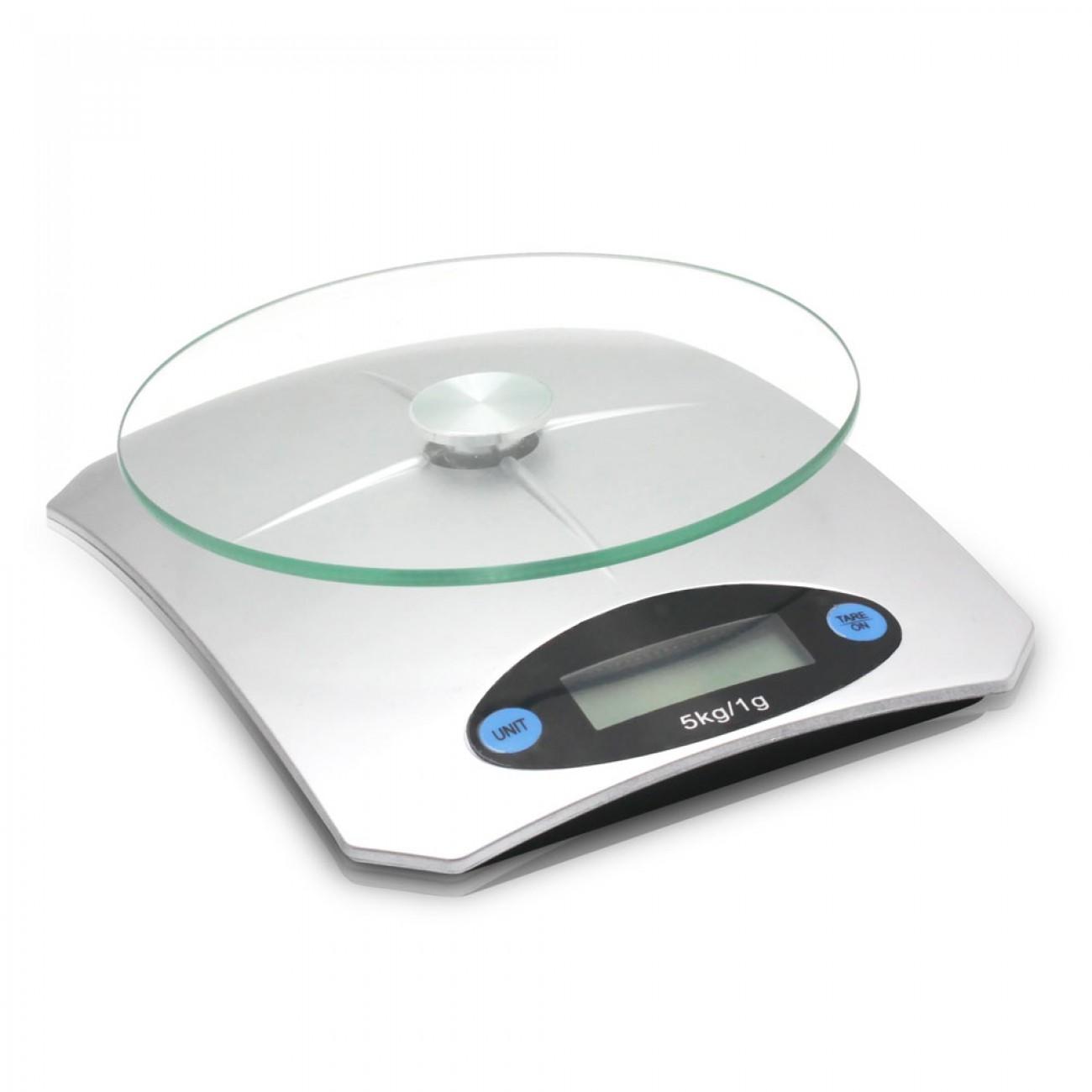 Кухненска дигитална везна SAPIR SP 1651 K, 5 кг, LCD екран, Включена батерия, Сив в Кухненски везни - SAPIR | Alleop