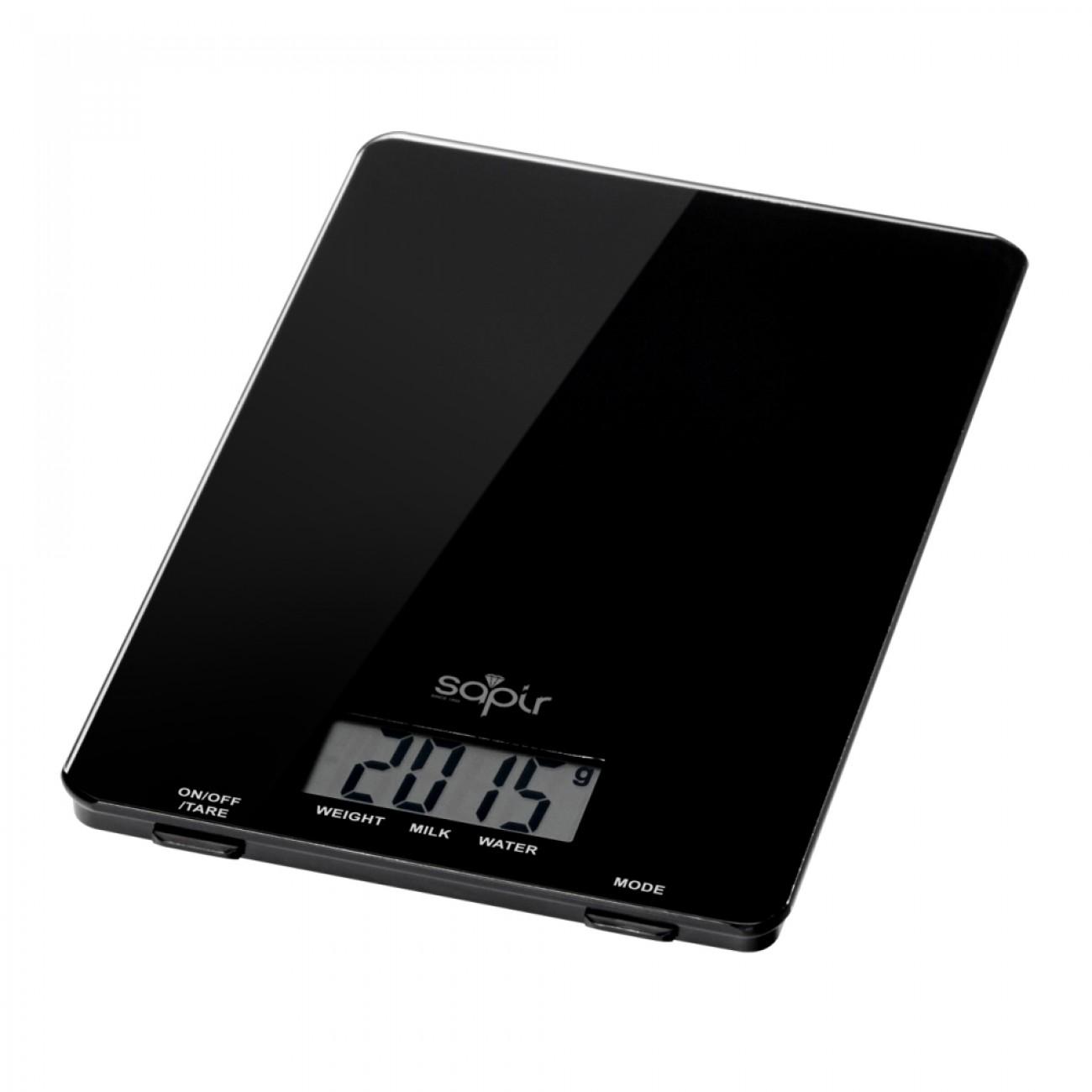 Кухненска дигитална везна SAPIR SP 1651 J, 5 кг, LCD екран, Включена батерия, Черен в Кухненски везни - SAPIR | Alleop