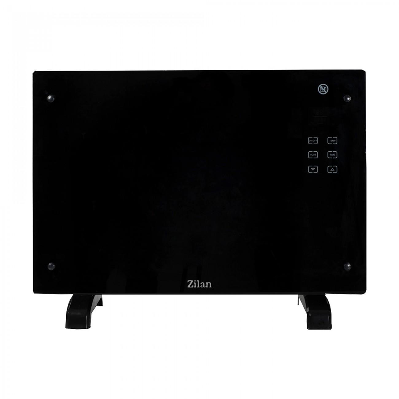 Конвектор за стена или под Zilan ZLN-1419, 1500W, Таймер 24 часа, Дистанционно, LCD, Черен в Конвекторни печки - zilan | Alleop