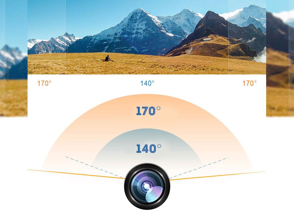 Екшън камера SJ9D, 4K Ultra HD, 2 инчов дисплей, 170° градуса поле на видимост