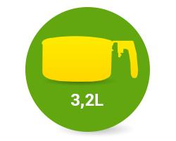 Уред за здравословно готвене Zephyr с капацитет от 3,2 литра