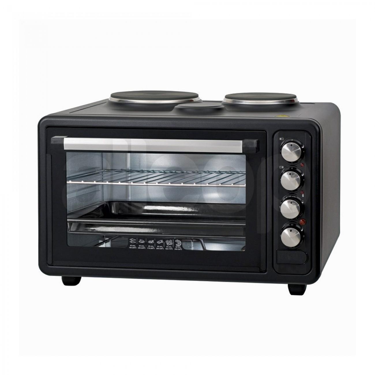 Готварска печка с два котлона ZEPHYR ZP 1441 M40, 40 литра, 3800W, 3 степени на мощност, Черен в  -  | Alleop