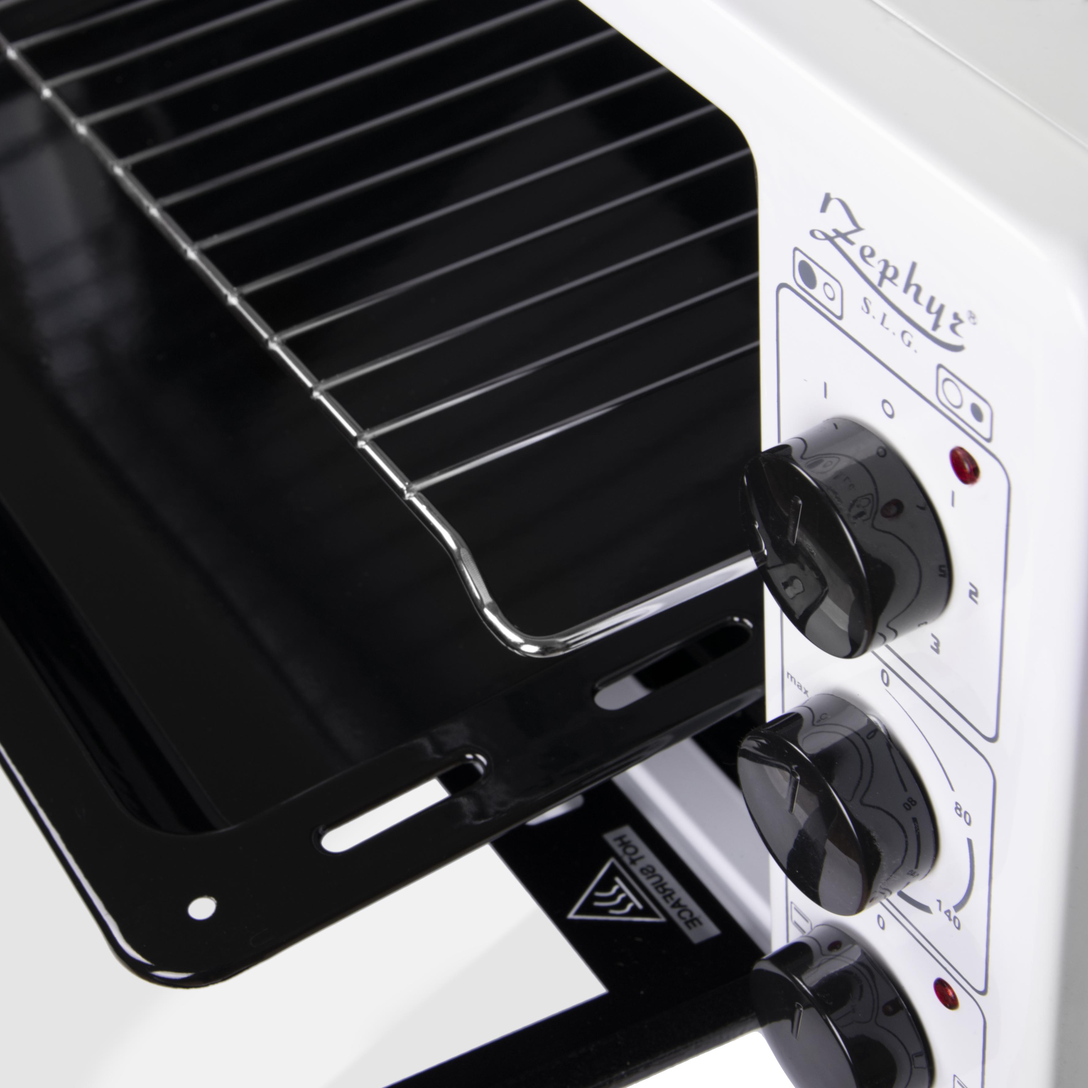 Готварска печка с фурна и два котлона 50 литра бял цвят ZEPHYR