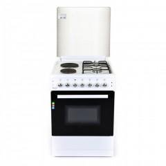 Комбинирана готварска печка ZEPHYR ZP 1441 2E50, 2 газови/ 2 електрически котлона, 6 функции, Клас А, 50 см, Бяла