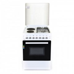 Комбинирана готварска печка ZEPHYR ZP 1441 2E60, 2 газови/ 2 електрически котлона, 6 функции, Клас А, 60 см, Бяла