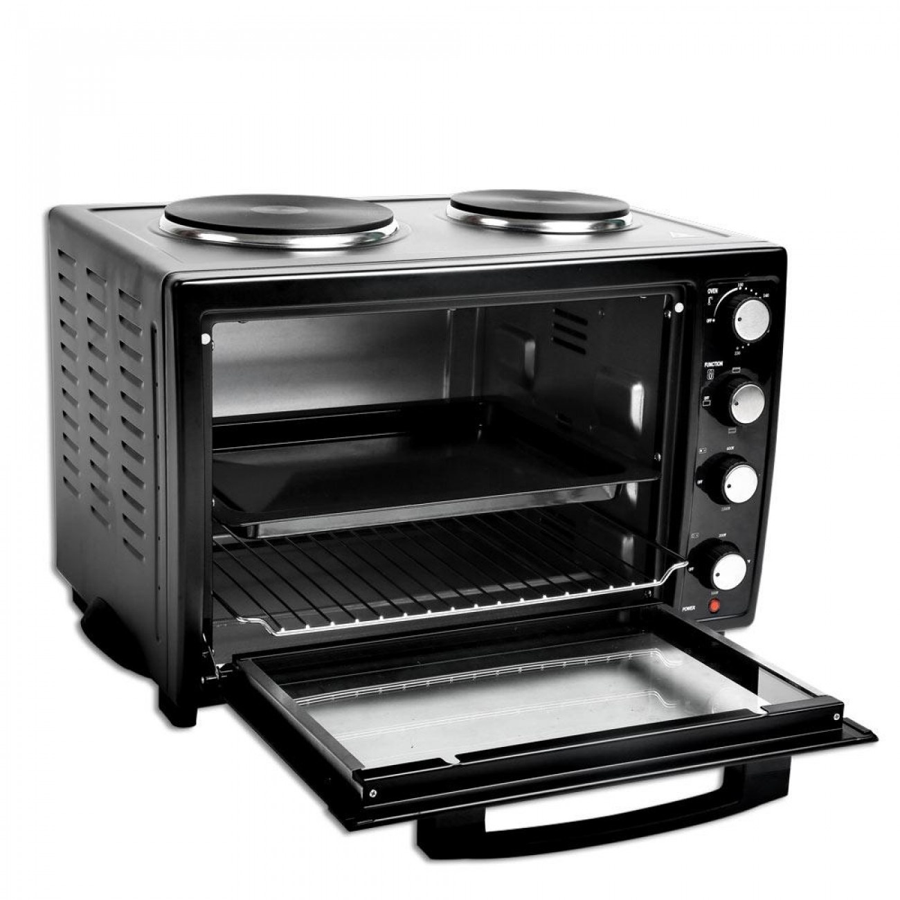 Готварска печка ZEPHYR ZP 1441 S35, 3300W, 35 л. Два котлона, Черен в Готварски печки - ZEPHYR | Alleop