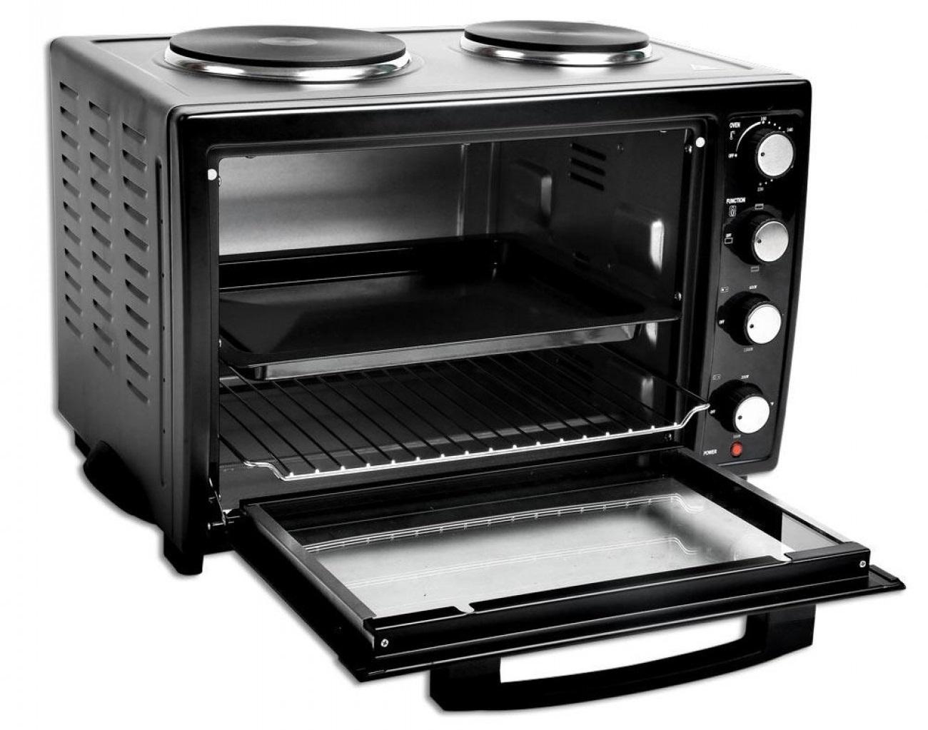 Готварска печка ZEPHYR ZP 1441 S35, 1200W, 35 л. Два котлона, Черен