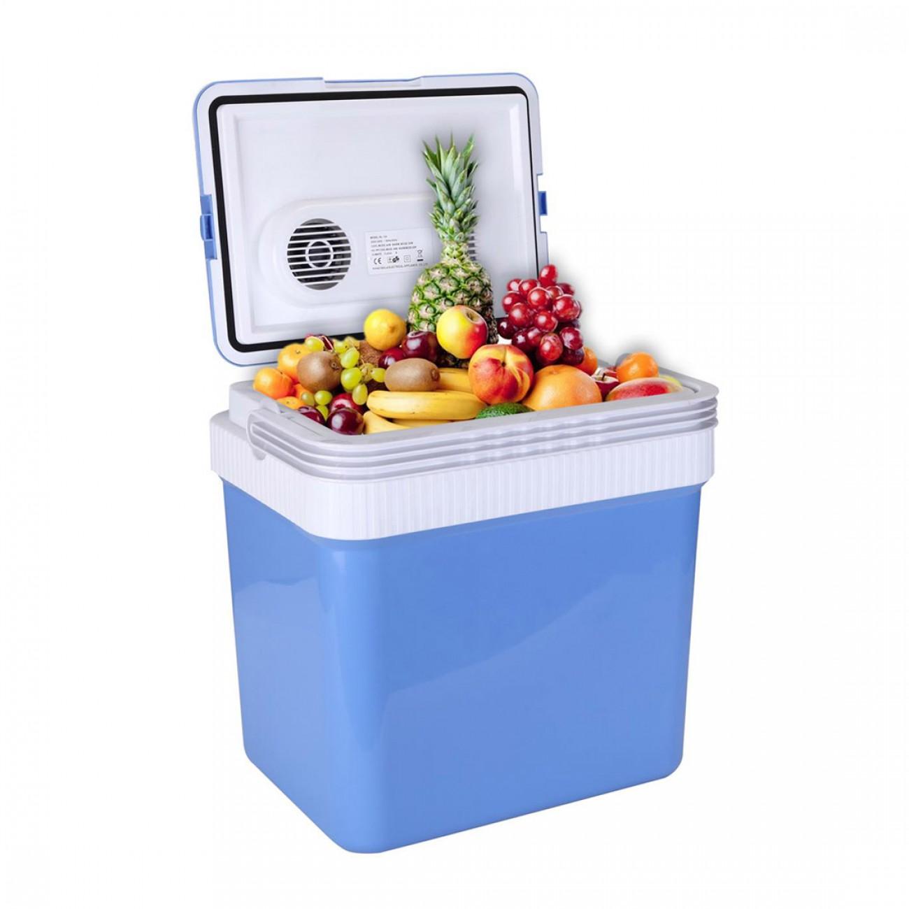 Хладилна чанта ZEPHYR ZP 1448 A24, 24 литра, 12V DC, Охлаждане и затопляне, Двойно захранване, Син в Хладилни чанти - ZEPHYR | Alleop