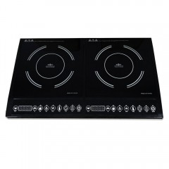 Индукционен котлон двоен SAPIR SP 1445 RG, 2000 + 2000W, LED екран, Таймер, 10 степени, 8 функции