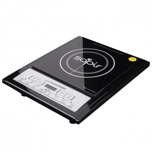 Индукционен котлон SAPIR SP 1445 QG, Стъклокерамична плоча 188 мм, 2000W, LED екран, 7 функции, 8 степени, Черен в Котлони - SAPIR | Alleop