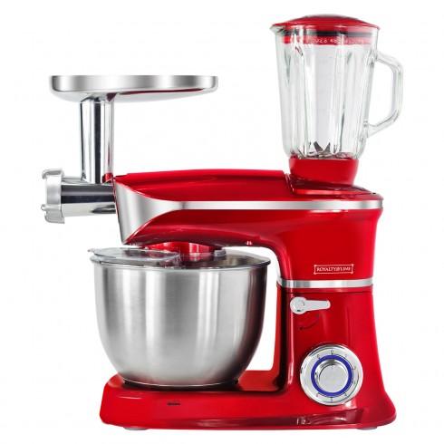 Кухненски робот 3в1 Royalty Line RL-PKM1900.7BG, 1900W, 6,5 литра, Блендер, Миксер, Месомелачка, Червен в Кухненски роботи - ROYALTY LINE | Alleop