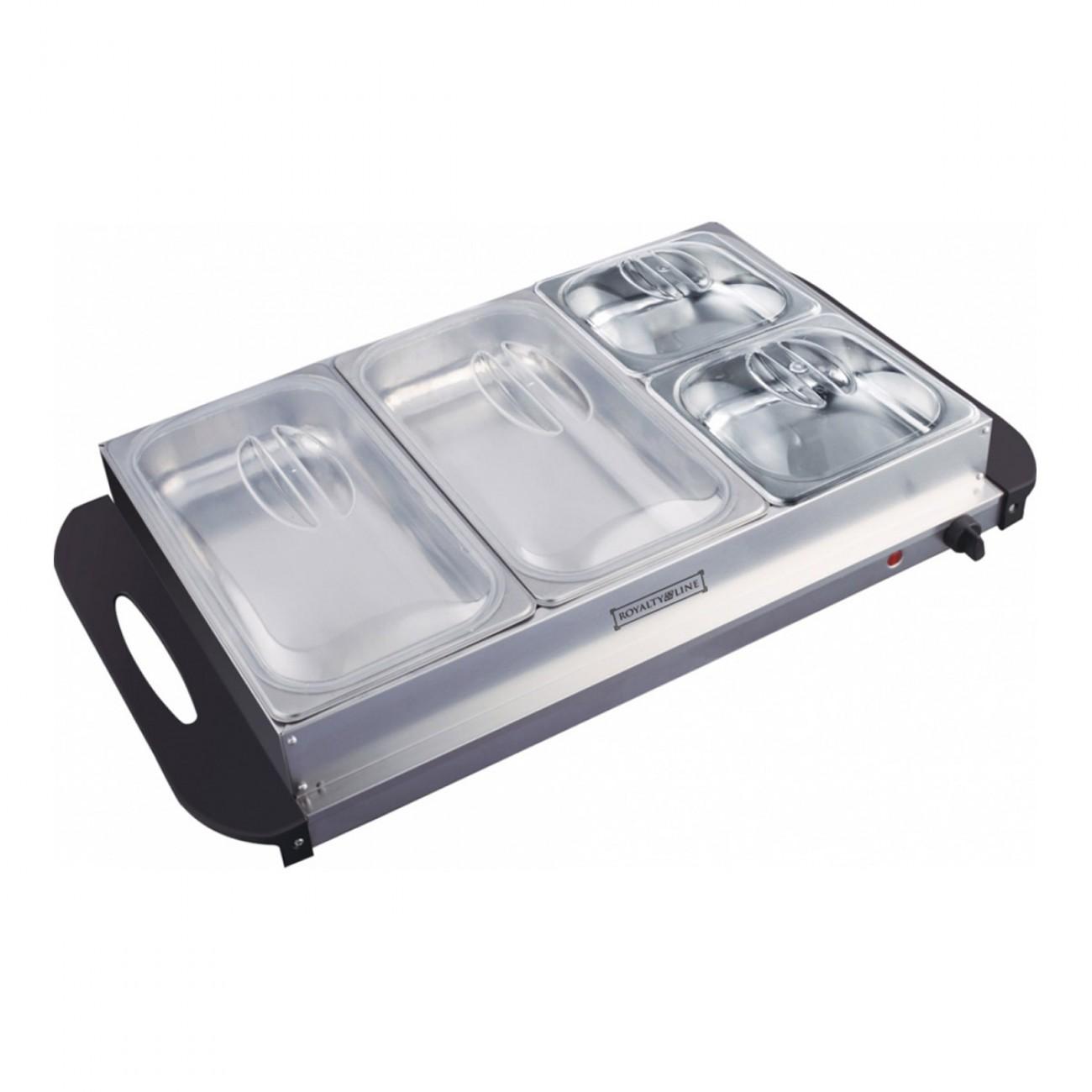 Уред за подгряване на храна Royalty Line RL-BFS4.7, 600 W, 3 отделения, Температура от 65-75°C, Инокс в Котлони - ROYALTY LINE   Alleop