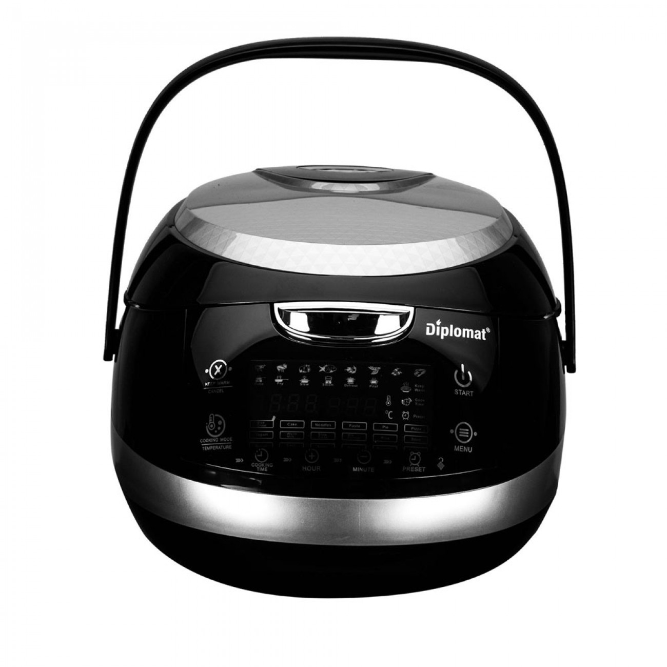 Мултикукър с 18 програми Diplomat MCKF500B, 860 W, 5 литра, Таймер, Отложен старт, LED, Черен в Multicooker & Уреди за готвене - Diplomat | Alleop