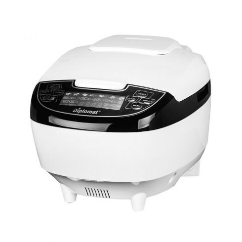 Мултикукър Diplomat MCKFP50W, 860W, 5 литра, 9 програми, LED дисплей, Таймер, бял в Multicooker & Уреди за готвене - Diplomat | Alleop