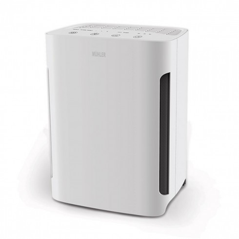 Пречиствател на въздух MUHLER APM-200UV, HEPA филтър, 4 степени на филтрация, 60W. Функция Sleep, Бял в Пречистватели на въздух - MUHLER | Alleop