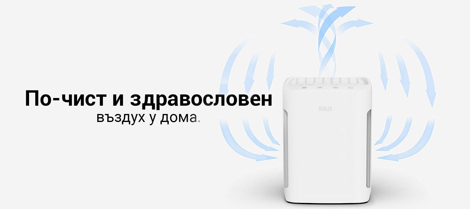 Пречиствател на въздух MUHLER с HEPA филтър - Alleop.bg