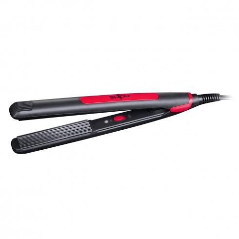 Преса за коса за вафлички - обем SAPIR SP 1101 AZ, 35W, Вълнообразни плочи, Черна/червена в Преса за коса - SAPIR | Alleop