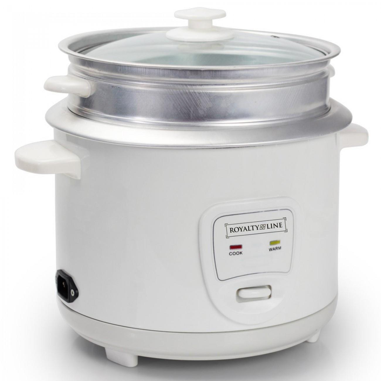 Оризоварка Royalty Line RL-RC-28.10D, 1000 W, 2.8 л (16 чаши), Поддържане на топлината, Бял в Multicooker & Уреди за готвене - ROYALTY LINE | Alleop