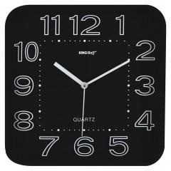 Стенен часовник KingHoff KH 1019, 30.3 см, Аналогов, Черен