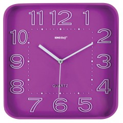 Стенен часовник KingHoff KH 1019, 30.3 см, Аналогов, Розов