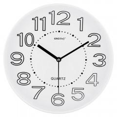 Стенен часовник KingHoff KH 1020, 30.3 см, Аналогов, Бял