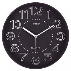 Стенен часовник KingHoff KH 1020, 30.3 см, Аналогов, Черен