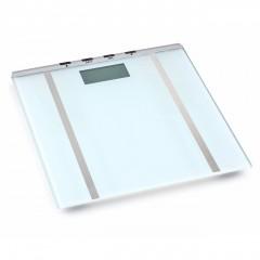 Дигитален кантар - анализатор ZEPHYR ZP 1650 BF, Закалено стъкло, LCD, Памет до 10 човека, 150 кг