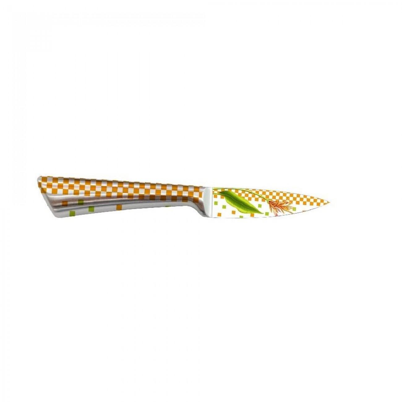 Кухненски нож ZEPHYR ZP 1633 NP, 9 см, Неръждаема стомана, Цветна щампа в Единични ножове - ZEPHYR | Alleop