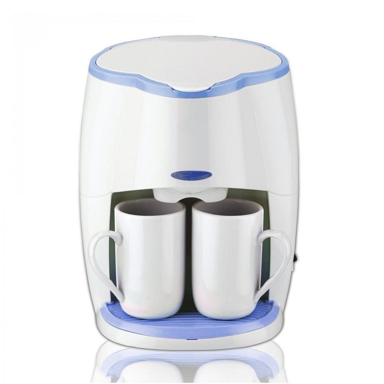Кафемашина с подарък 2 чаши SAPIR SP 1170 L, 450W, LED индикатор, Бяла в Кафемашини - SAPIR | Alleop