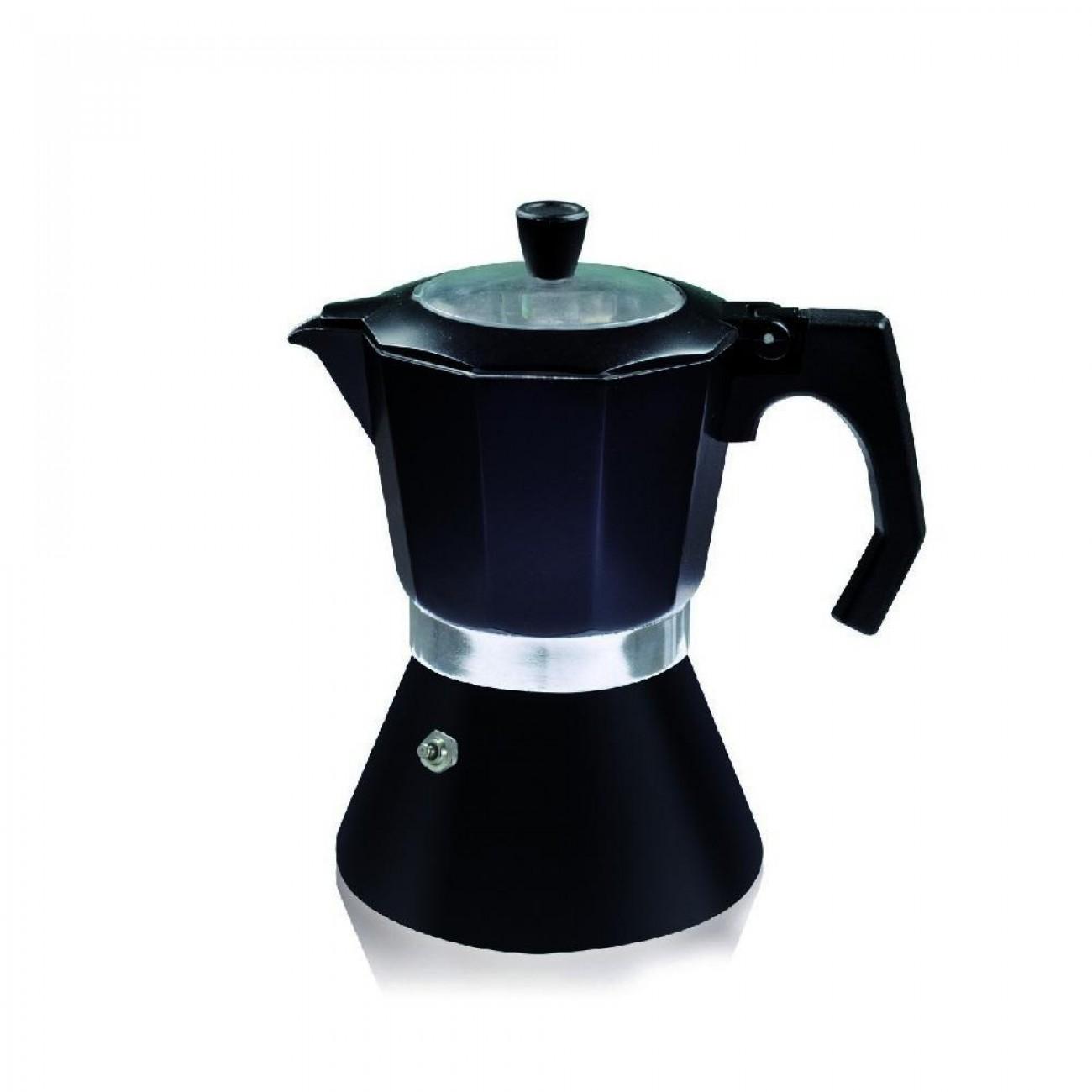 Кубинска кафеварка за индукционен котлон ZEPHYR ZP 1173 DI12, 12 чаши, Черна в Кафеварки за котлон - ZEPHYR | Alleop
